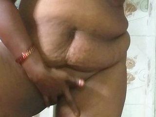 desi indian tamil telugu kannada malayalam hindi  horny cheating wife wearing saree vanitha showing big boobs and shaved pussy press hard boobs press nip rubbing pussy masturbation pissing