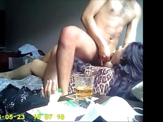 desi indian girlfriend get fucked and get blowjob by her boyfriend.
